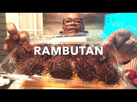 EATING RAMBUTAN -  THE HAIRY FRUIT - PART ONE