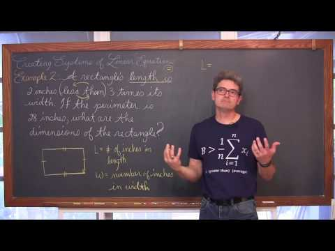 Linear Systems from Word Problems 4 Examples