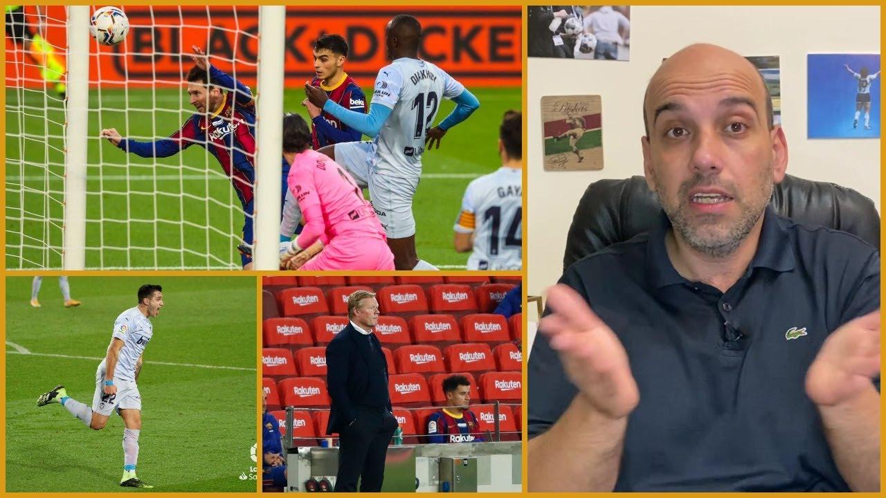 برشلونة وفالنسيا 2-2 .. أفكار كومان العجيبة ورقم ميسي التاريخي