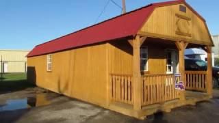 Derksen Treated Lofted Barn Cabin 14x40. Big W's Portable Buildings