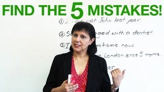 Basic English Grammar – Find the 5 mistakes!