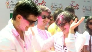 Mohsin Khan celebrates Holi @ Zoom Holi Party 2017 | Full Video