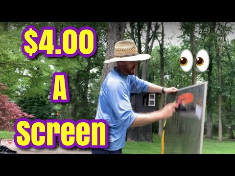 How to Clean Screens || Professional Screen Cleaning || The $4.00 Screen Cleaning Method Eric Bland