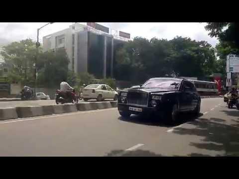 Chasing Super Cars in Hyderabad. Rolls Royce Phantom.