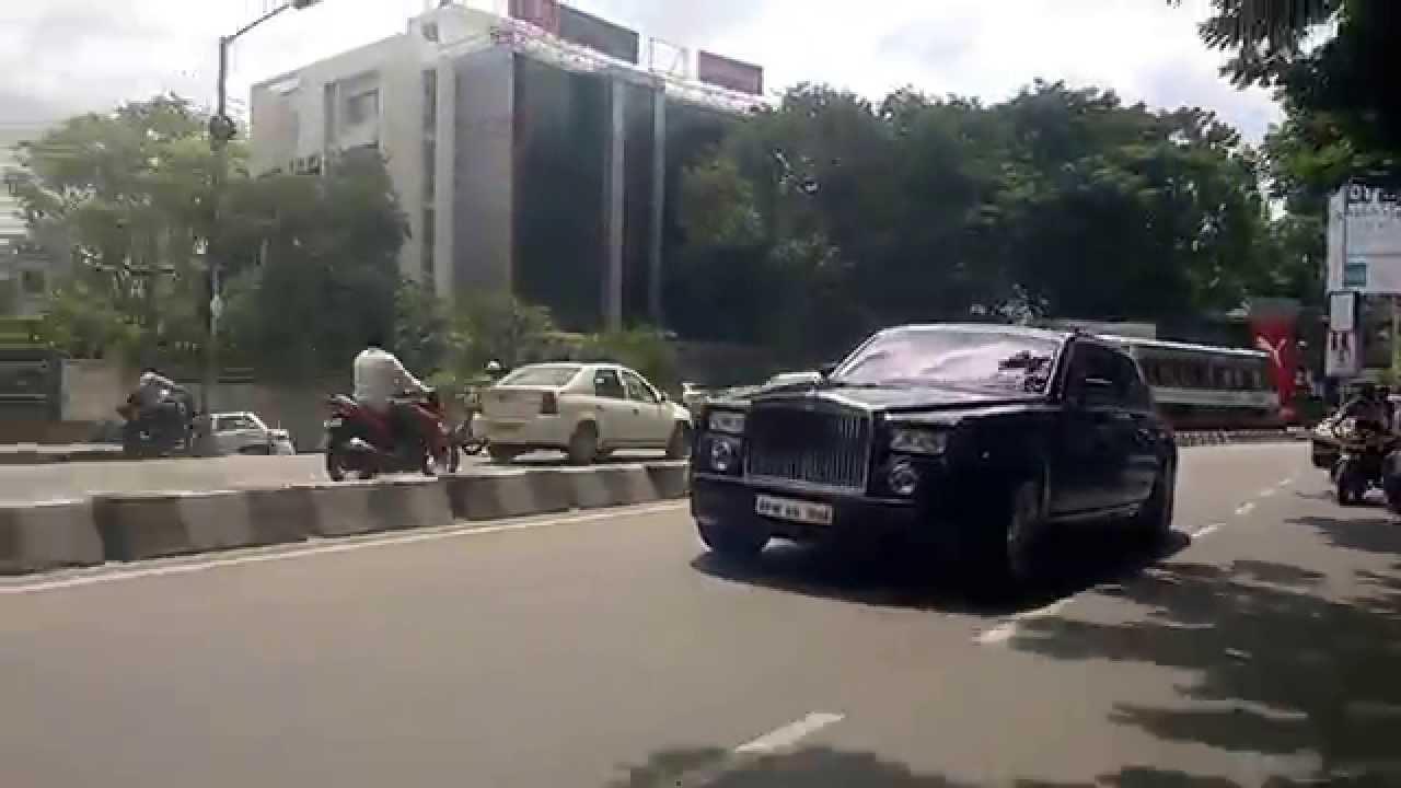 Chasing Super Cars in Hyderabad  Rolls Royce Phantom