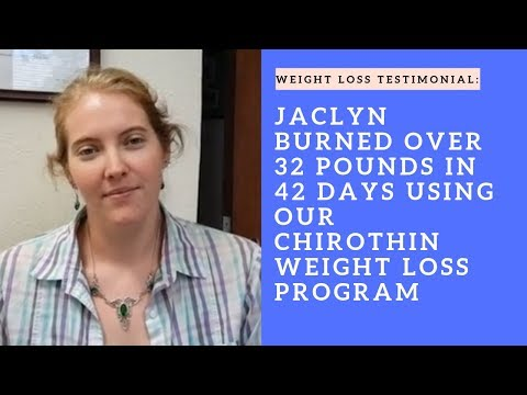 Jaclyn burned over 32 pounds in 42 days using our ChiroThin Weight loss Program in San Mateo, CA