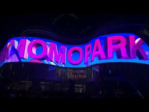 A piece of ART- Transparent LED display in MOMO PARK.