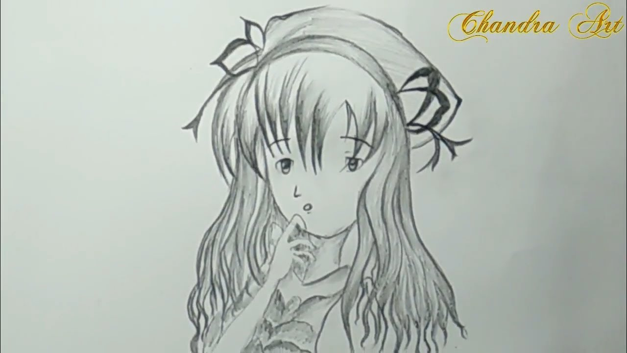 Cool Pencil Drawing How To Draw Anime Step By Step Easy Youtube