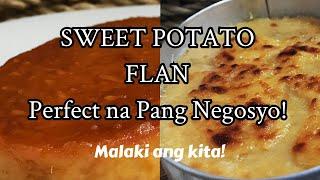 Patok na negosyo kamote FlanSweet Potato Flan  Cheesy Camote Pudding