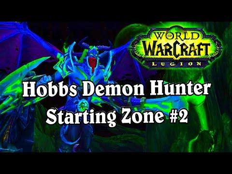 Legion Alpha Hobbs 1st Look Part 2 ~ Demon Hunter Starting Area Mardum ~ World of Warcraft