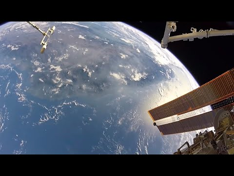 View of Earth during a Space Walk Outside the ISS