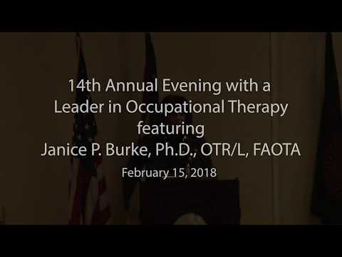 University of Findlay Occupational Therapy Evening with a Leader in OT (pt1)