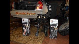 Hyundai Accent - Замена задних стоек ,своими руками.