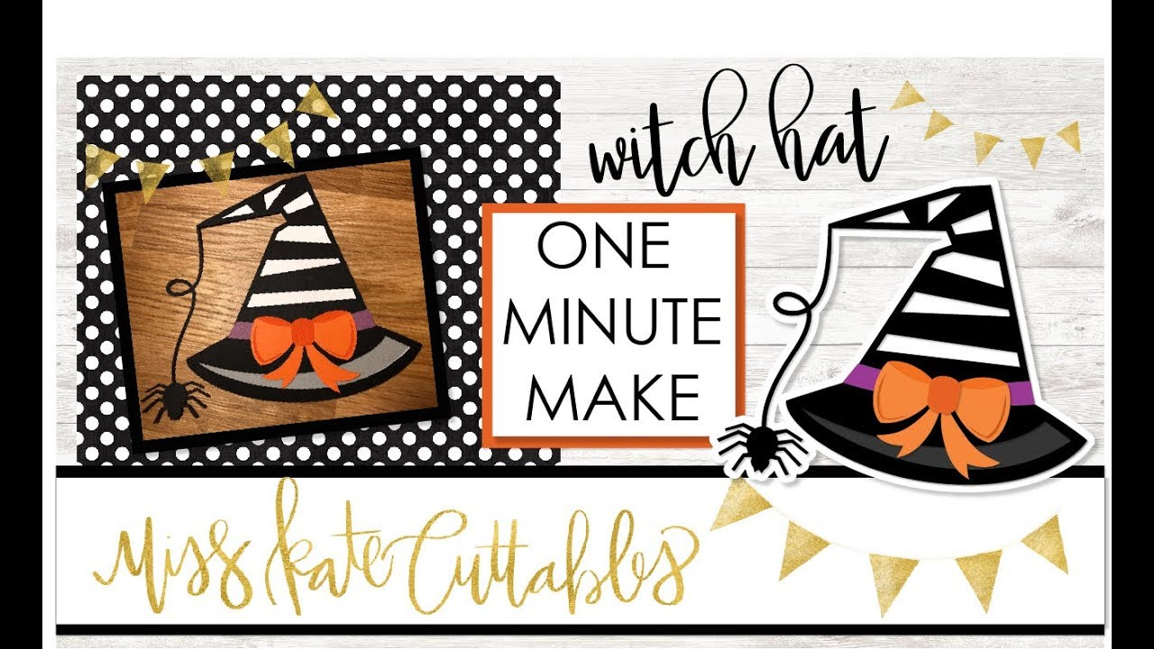 one minute make - witch hat how to halloween diy tutorial with free