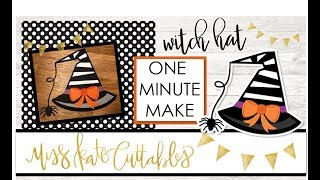 One Minute Make - Witch Hat How To Halloween DIY Tutorial with FREE SVG Files