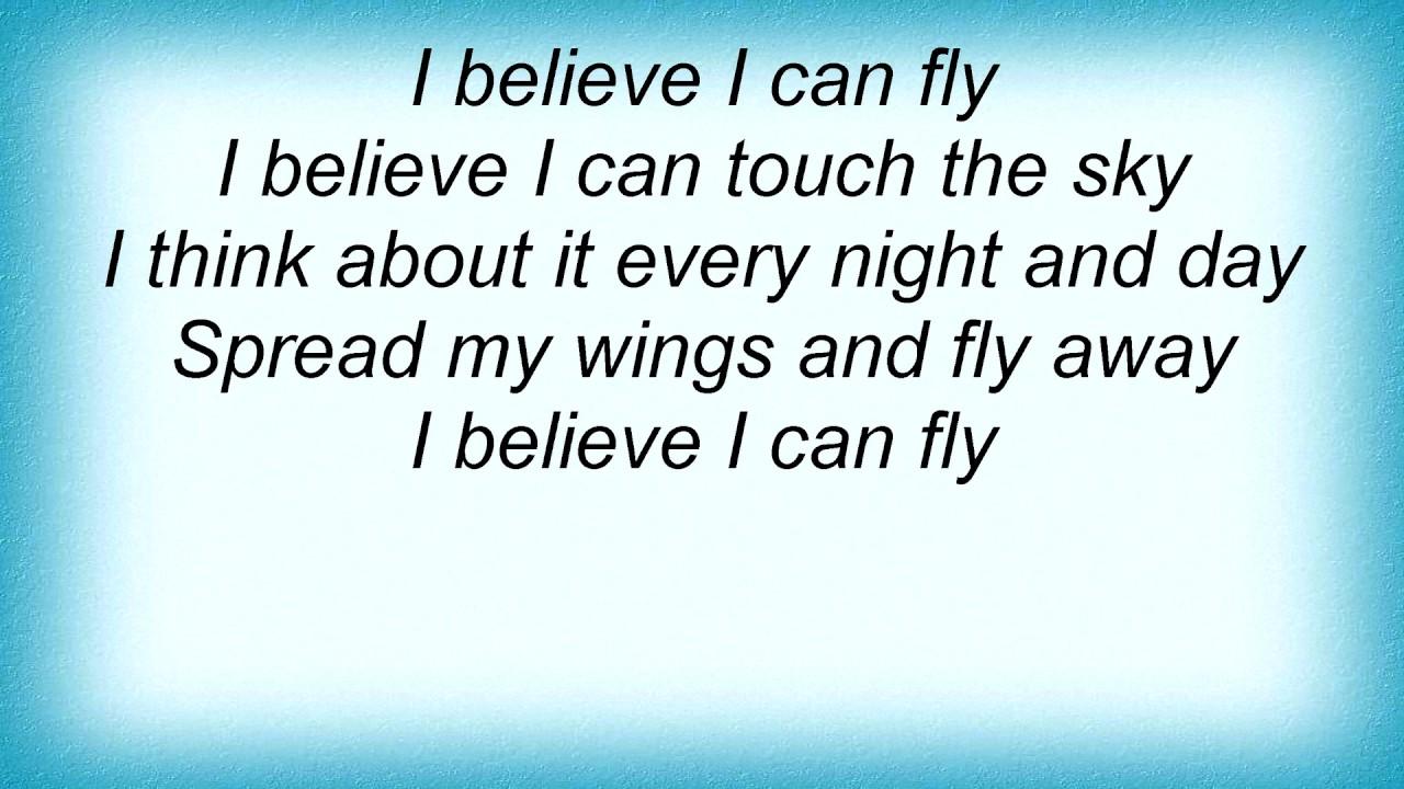 faith no more i believe i can fly lyrics youtube