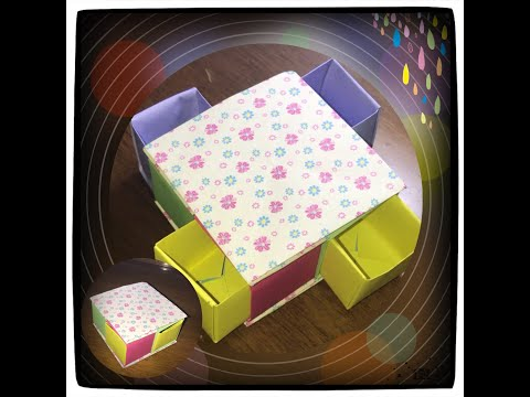*DIY*Caja con cajones secretos origami - Secret drawer box origami