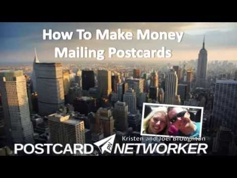 Mailing postcards for money