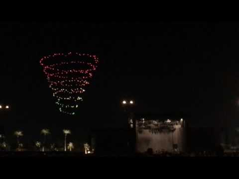 Coachella drone light show