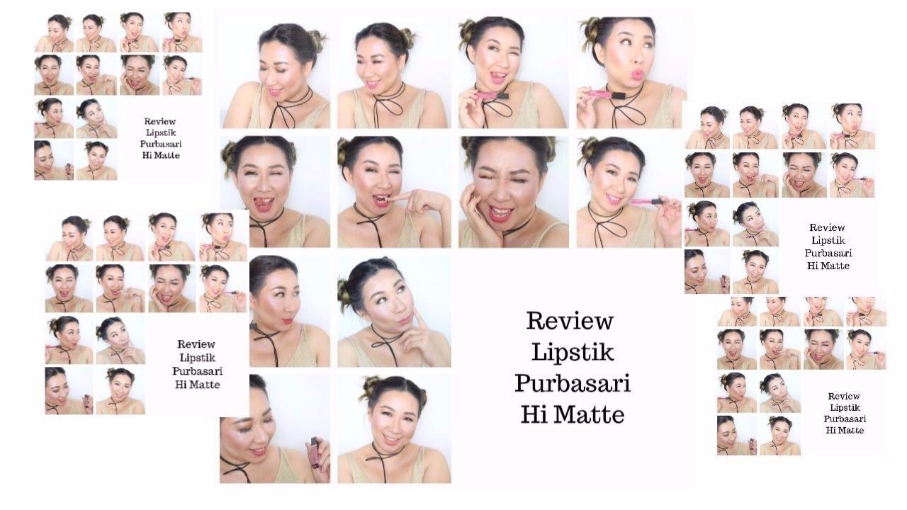 Purbasari Hi Matte Lip Cream Review Swaches Lipstick