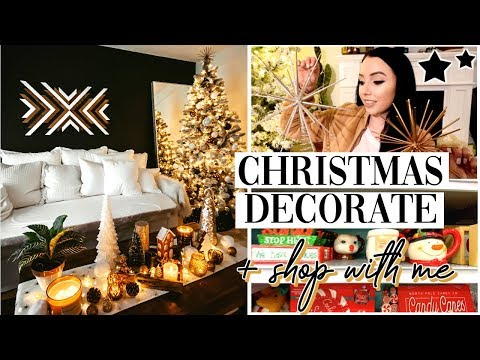CHRISTMAS 2019 SHOP AND DECORATE WITH ME // CHRISTMAS HOME TOUR