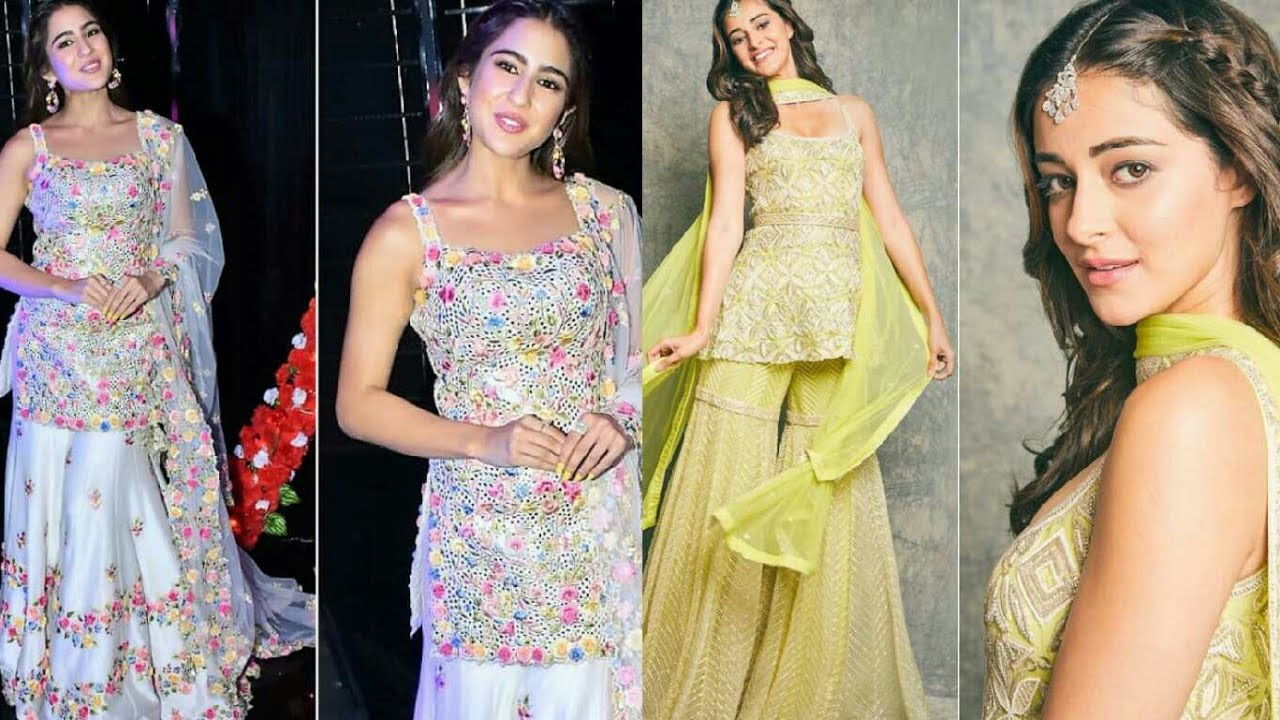 Bollywood Style Sharara Suit With Hairstyle Ideas 2020 Youtube