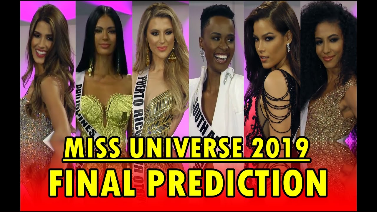 Miss Universe 2019 Final Prediction Top 20 Youtube
