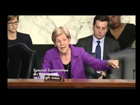 Elizabeth Warren At Valeant Pharmaceuticals Hearing on Business Practices