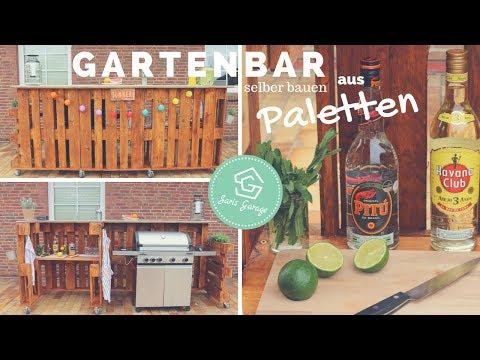 Gut gemocht Bar aus Paletten selber bauen - Palettenbar - Europaletten Möbel AH54