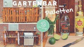 Bar aus Paletten selber bauen - Europaletten Bar Anleitung - Palettenmöbel DIY