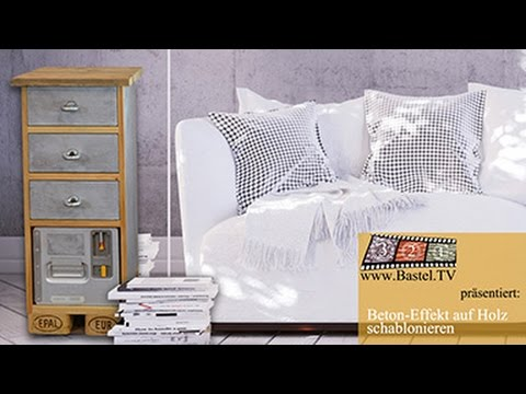diy paletten m bel upcycling in beton optik selber. Black Bedroom Furniture Sets. Home Design Ideas