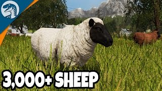 GIANT 3,000+ SHEEP ARMY | Rappack Farms #15 | Farming Simulator 17 Multiplayer Gameplay