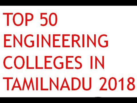 Top Engineering Colleges In Tamil Nadu - 2018 Rankings