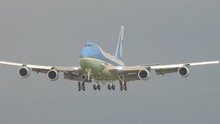 Donald Trump visits Scotland! Air Force One landing at Prestwick Airport