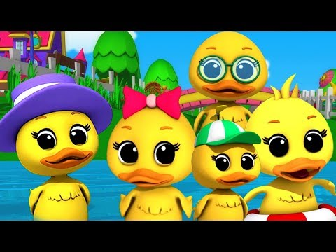 Lima Bebek Kecil | Sajak Anak-anak | Lagu Di Indonesia | Duck Song | Kids Songs | Five Little Ducks