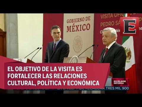 Conferencia de prensa conjunta de los presidentes de México y España