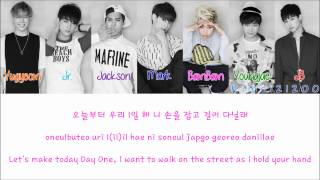 GOT7 - A [Hangul/Romanization/English] Color & Picture Coded HD