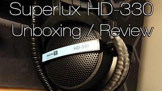 Superlux HD-330 Headphones Unboxing / Review