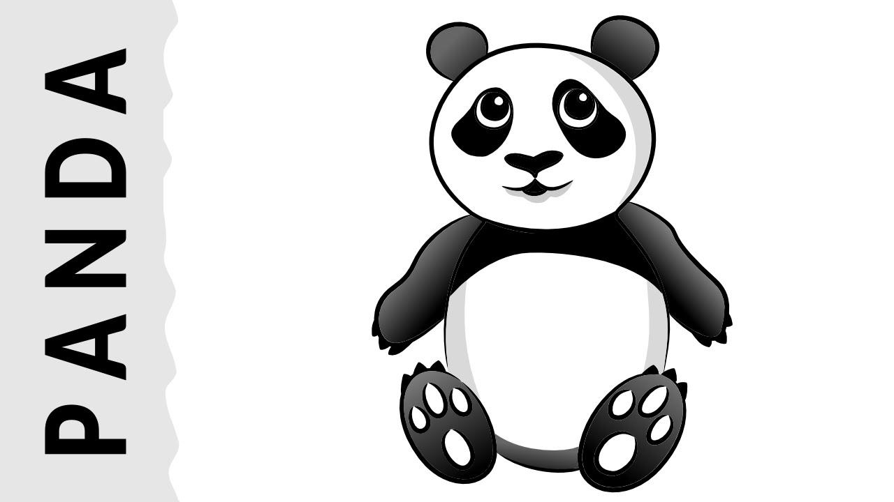Como Dibujar Un Oso Panda Paso A Paso Con Dibujart Com Youtube