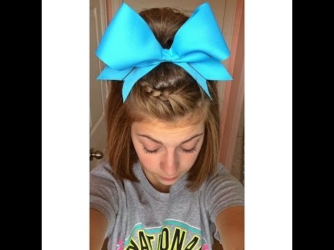 Easy cheer hair tutorial