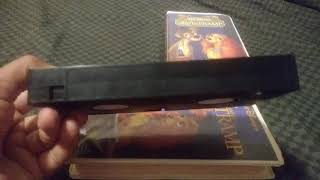 2 Different Versions Of Walt Disney's Lady And The Tramp VHS