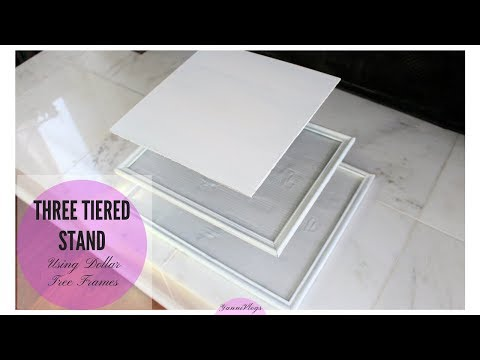 DIY Dollar Tree | Three Tiered Stand using Picture Frames