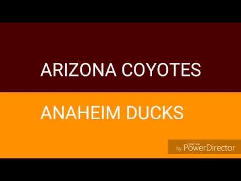 NHL - Arizona Coyotes : Anaheim Ducks