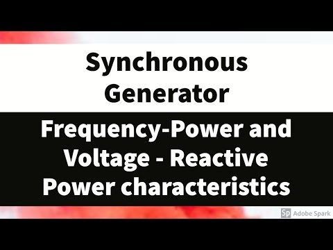 #21 Frequency-Power and Voltage - Reactive power characteristics of Synchronous Generator thumbnail