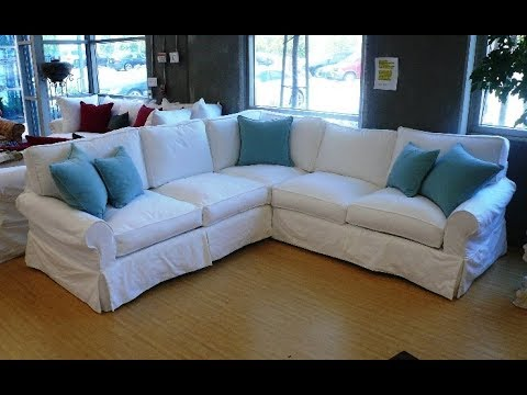 slipcovers for sectional sofa gray color youtube