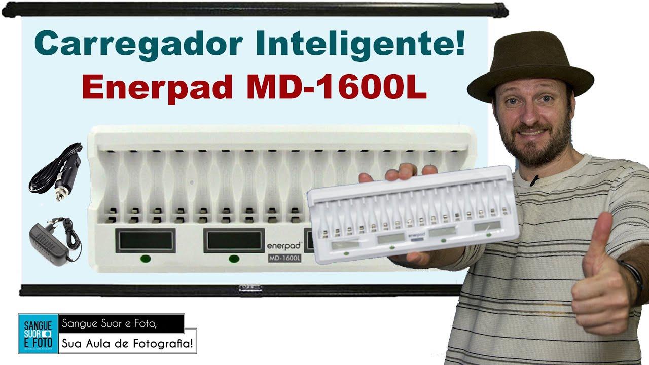 carregador pilhas Enerpad MD-1600L - carregador de pilhas inteligente!