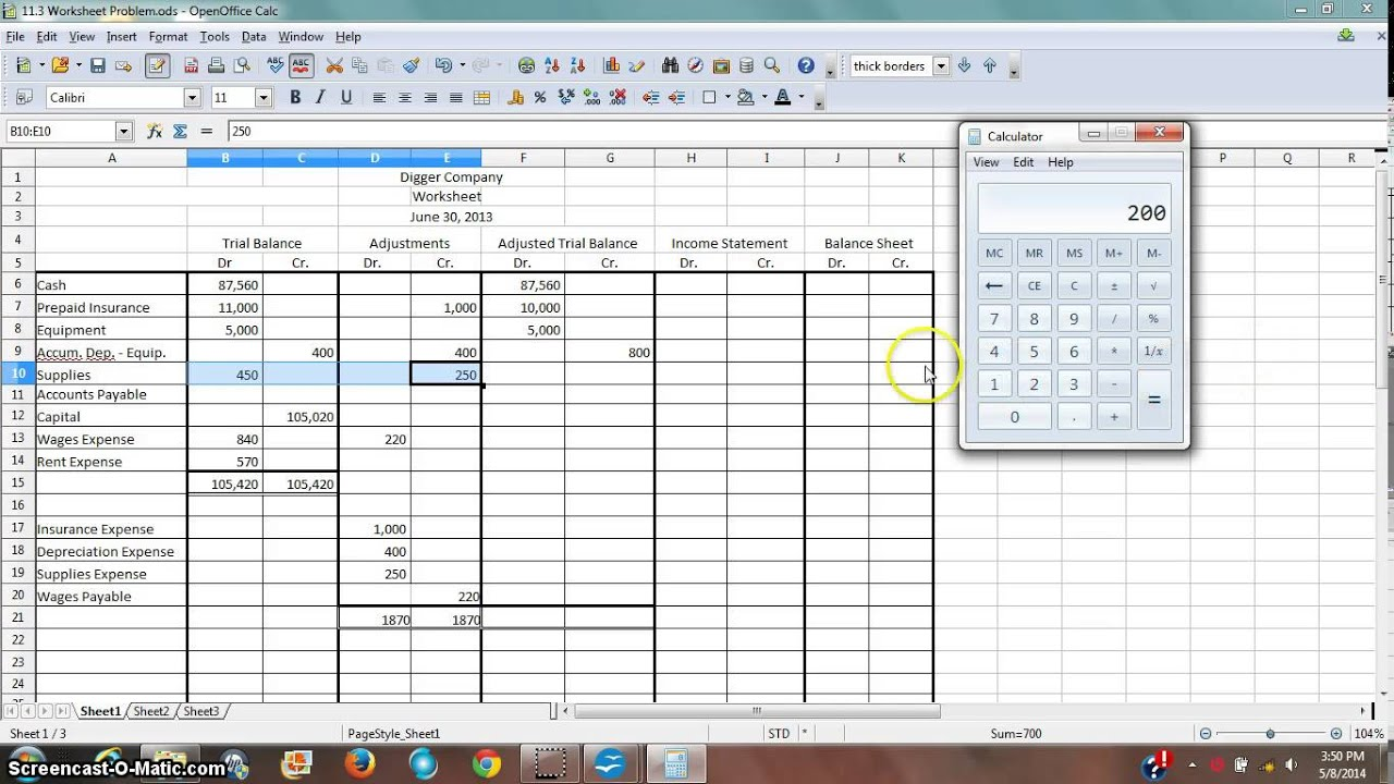 Worksheet 2 - Adjusted Trial Balance - YouTube