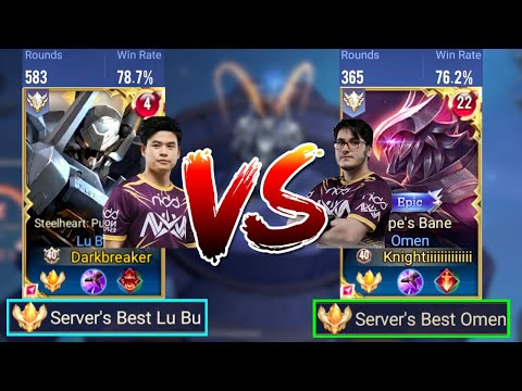 TOP 1 LUBU VS TOP 1 OMEN - SERVER BEST 1V1 BATTLE | AoV | 傳說對決 | RoV | Liên Quân Mobile