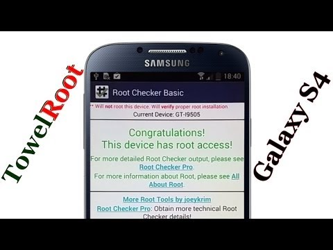 One Click Root Galaxy S4 by #TowelRoot [No Computer] - YouTube