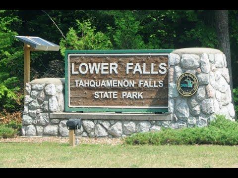 Camping at Tahquamenon Falls State Park, Michigan